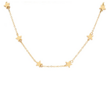 Load image into Gallery viewer, Silver and Gold Star Choker Necklaces