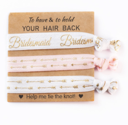 Help Me Tie The Knot Bridesmaid Wedding Hair Scrunchies