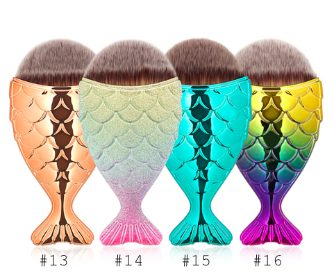 Metallic Mermaid Make Up Brushes