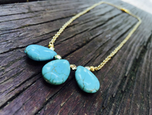 Load image into Gallery viewer, Turquoise Stone Necklace