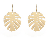 Gold Leaf Hang Earrings