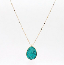 Load image into Gallery viewer, Arielle Stone Pendant Necklace