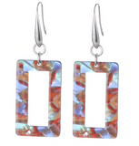 Boho Resin Acrylic Shape Earrings