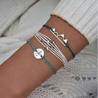 Green Silver Mountains Summer Bracelet Set