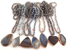 Load image into Gallery viewer, Glassy Moon Stone Statement Necklace