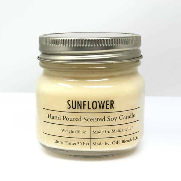 Sunflower Soy Wax Candle