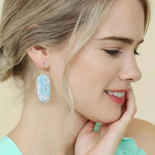 Load image into Gallery viewer, Abalone Shell Earrings with Gold Tassel
