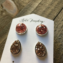 Load image into Gallery viewer, Princess Druzy Earrings Set