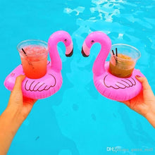 Load image into Gallery viewer, Flamingo Drink Holders Float!
