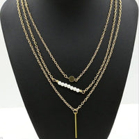Aimee Pearl + Gold Layered Necklace