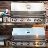 before after stainless steel bbq