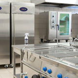 clean stainless steel kitchen