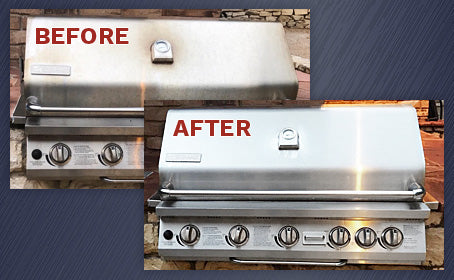 Beautiful rust-free stainless steel before and after 1