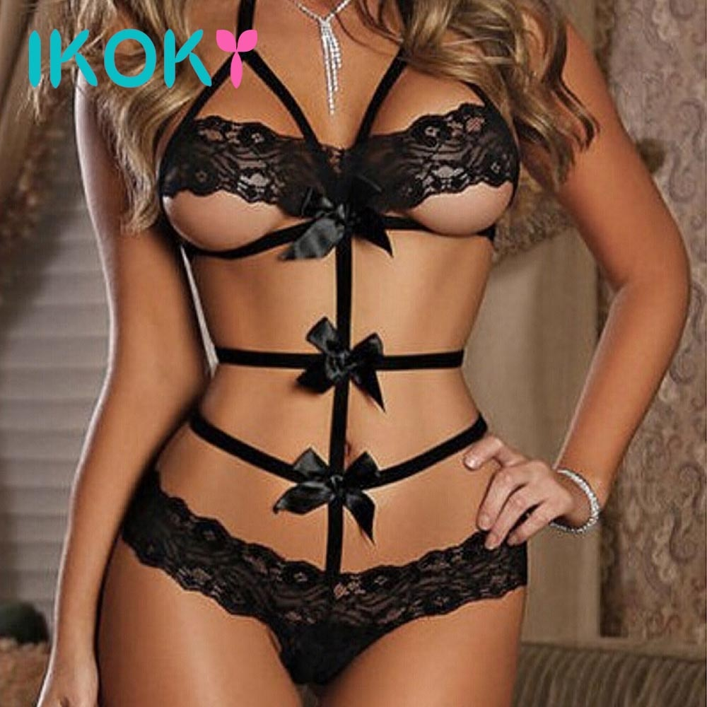 Erotic Lace Bow G-string Lingerie one size