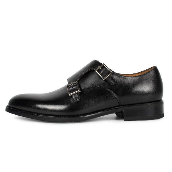 Black Suede Buckle Shoe - KASA