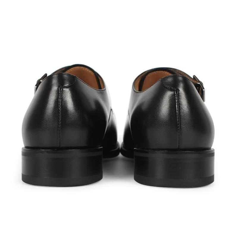 Black Suede Buckle Shoe | KASA