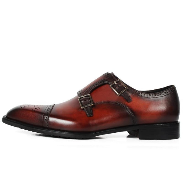 Embroidered Prestige Buckle Shoe - KASA
