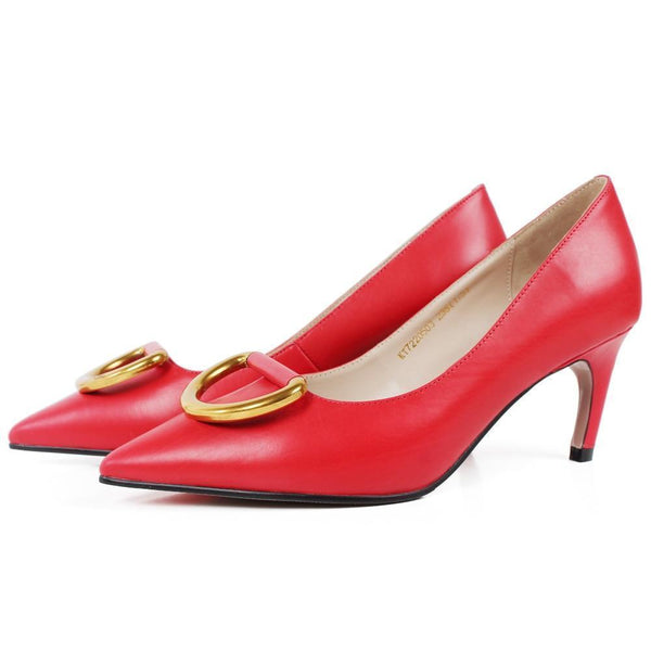 Red D-Ring Stiletto | KASA