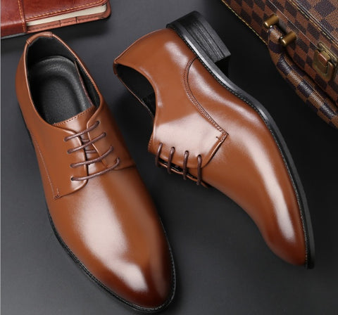 Four Seasons Men's Leather Business Shoes