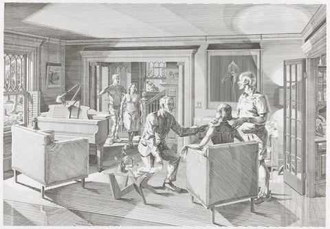 Andrew Raftery - Open House - Scene One - Living Room - engraving