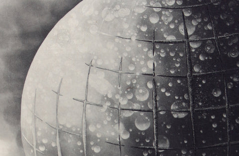 Fumiko Takeda - 武田 史子 - Wandering Stars - 彷徨う星 - intaglio - etching aquatint - hot air balloon netting