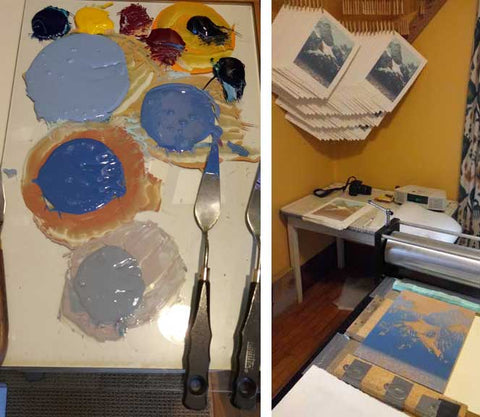 Glorious Day - mixing colors - William Hays - Mesh Art Gallery