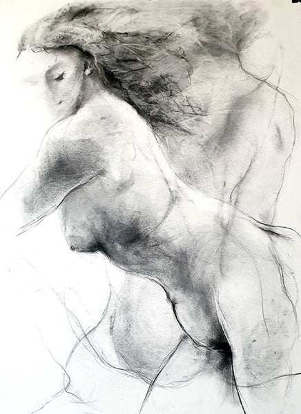 Marketa Kemp - charcoal from life drawing classes nudes