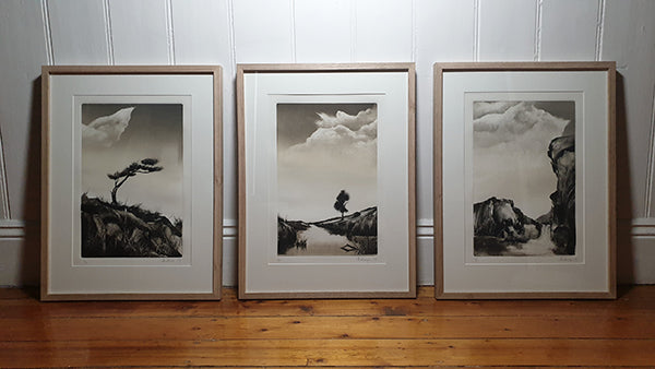 Marketa Kemp three framed monotypes
