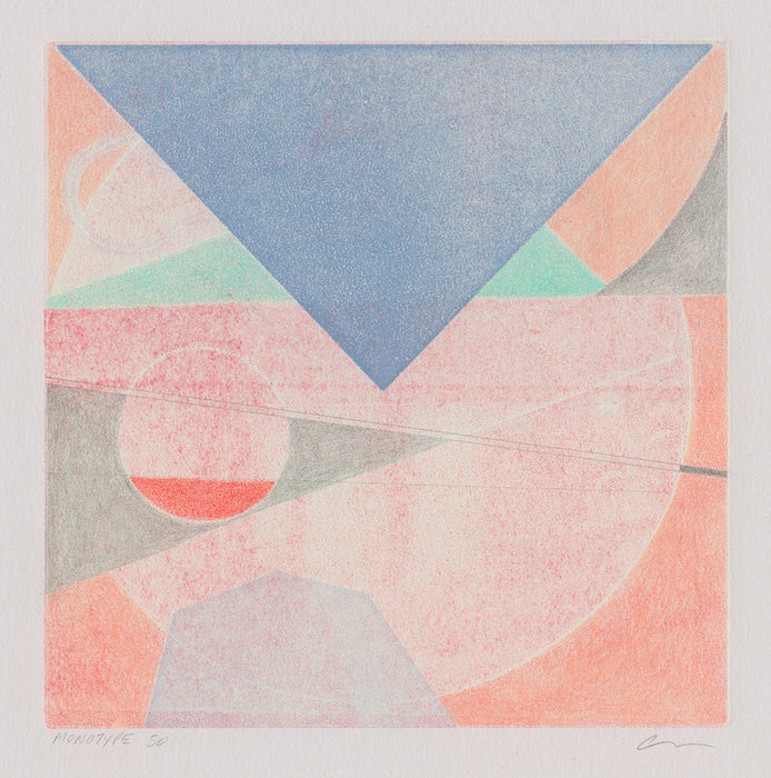 Anda Tanaka - Monotype 50 - monotype, colored pencil & pencil