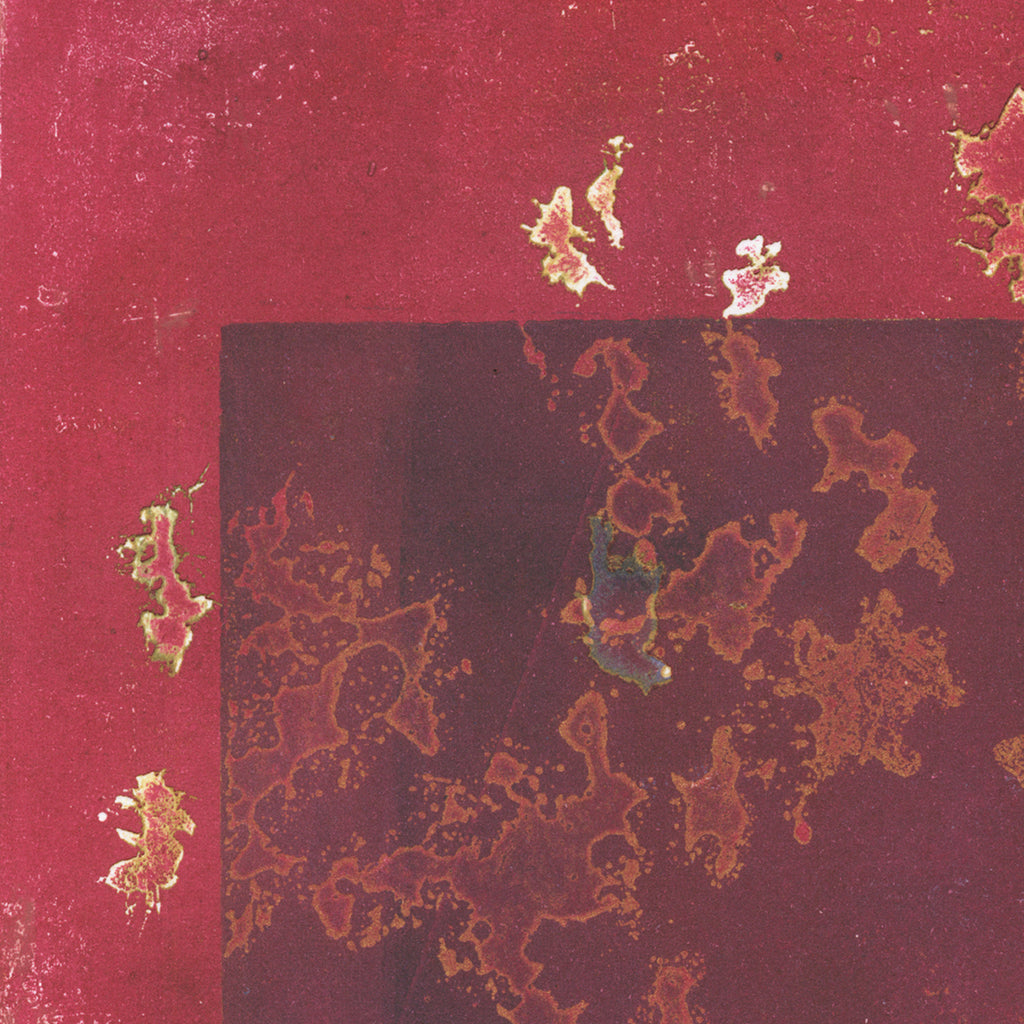 Anna Jeretic - Oak Leaves II - burgundy - sugarlift aquatint