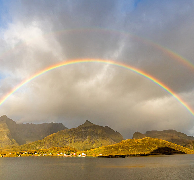 Daniel Anderson - Lofoten Rainbow - Norway archipelago fishing sea - photograph 2018
