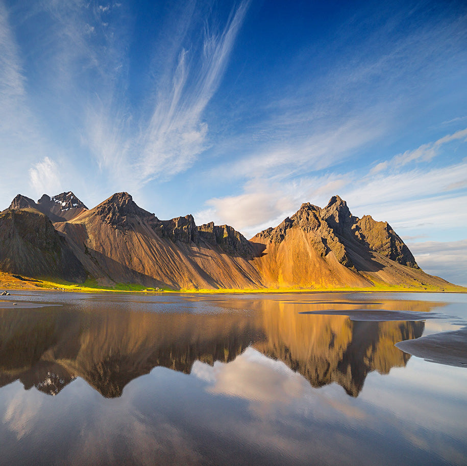 Reflections, Vesturhorn Evening