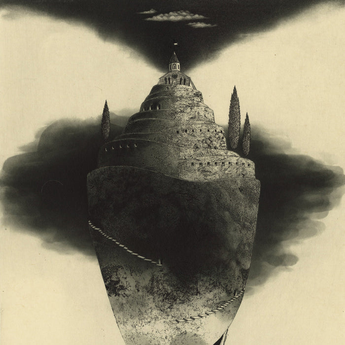 Etching and aquatint - by TAKEDA, Fumiko - titled: Shell boat