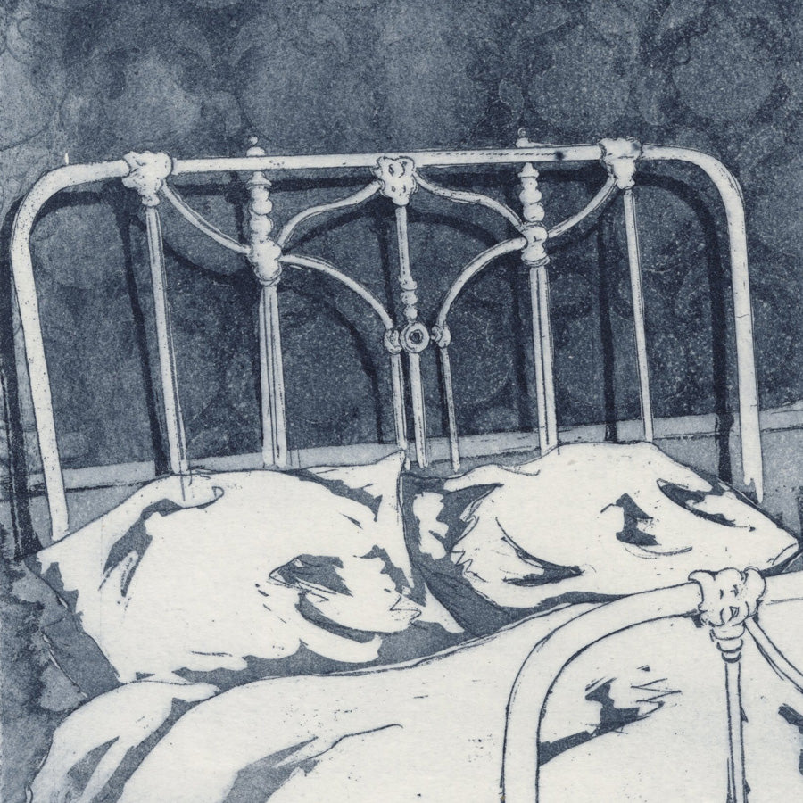 Helene Bautista - The Hotel Room - Etching and aquatint - 2021