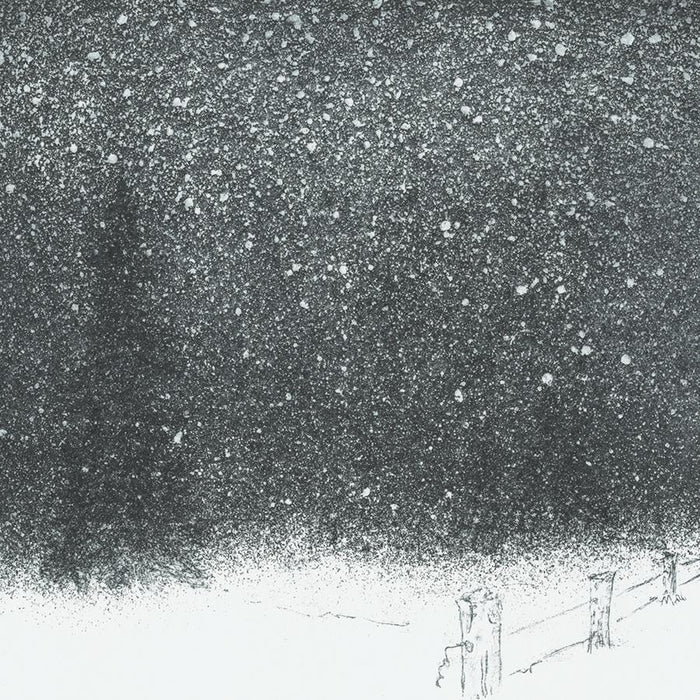 Etching and aquatint - by BAUTISTA, Helene - titled: Winter