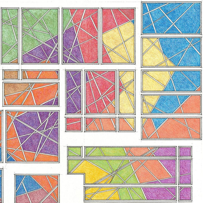 Color drawing - by CLINE, John W. - titled: Untitled 104