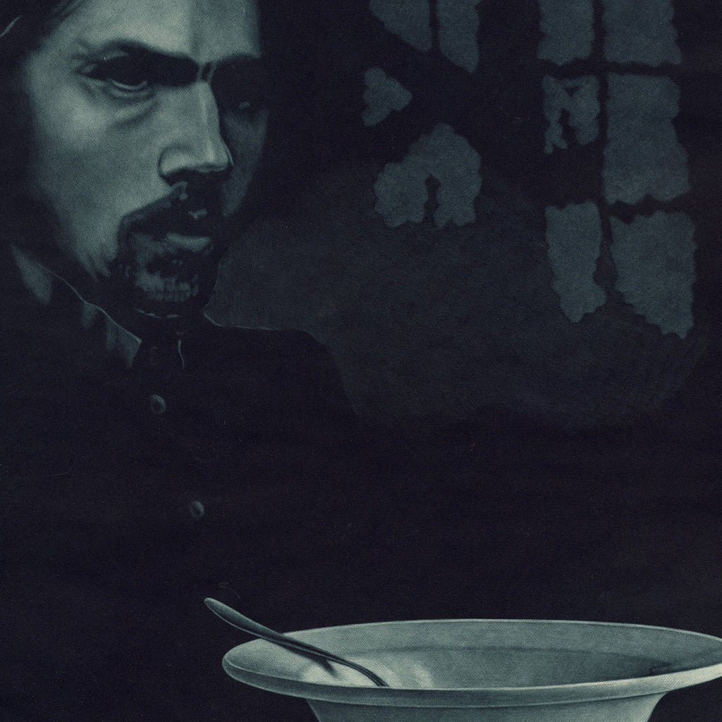 Jukka Vanttinen - Rasko - mezzotint - portrait of man with bowl