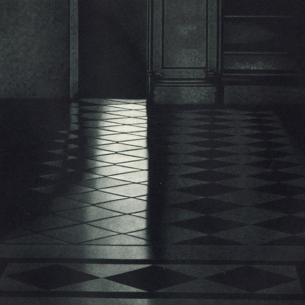 Jukka Vanttinen - Last Time - mezzotint - interior tile floor quiet