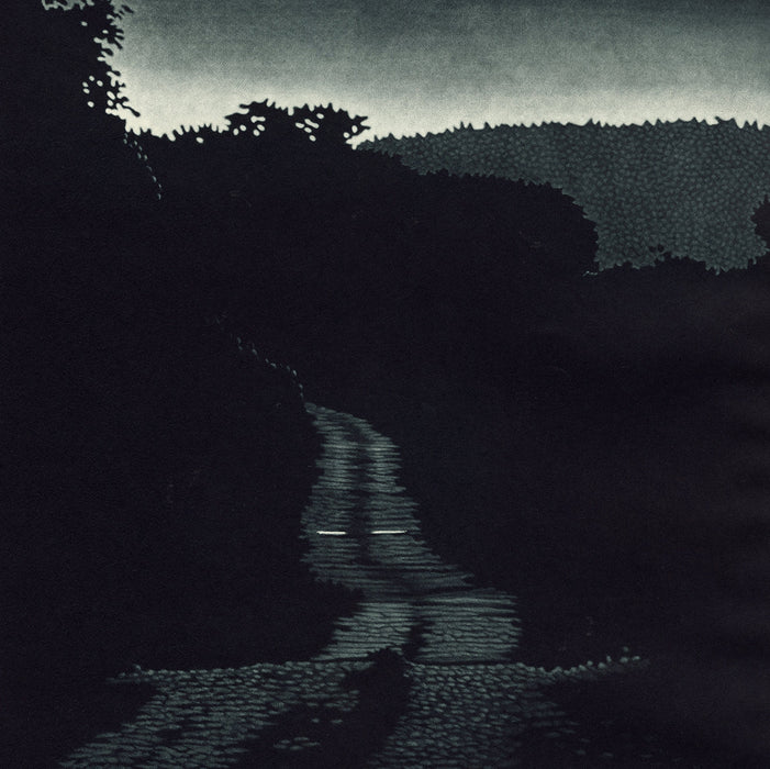 Jukka Vanttinen - Nomad - mezzotint - negative space road black