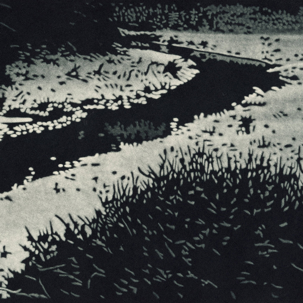 Jukka Vanttinen - Stream - mezzotint - quiet solitude negative space