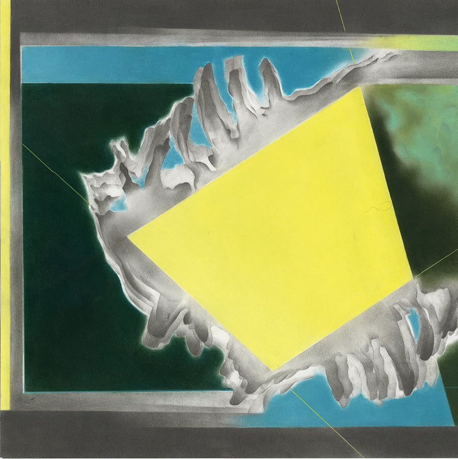 Kate Hendrickson - Captured Sunlight - 2019 - graphite, pastel, colored pencil - geometric bastraction bright yellow