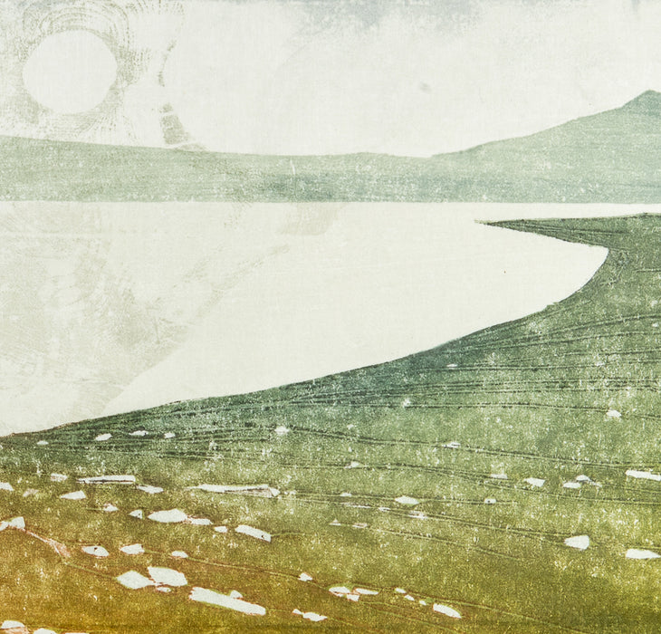 Laura Boswell - Near Applecross, Cloud Forms - Japanese watercolour woodblock