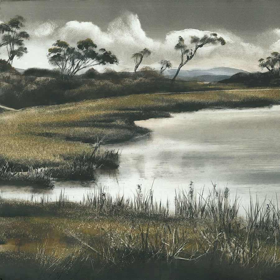 Marketa Kemp - Lake Connewarre II - Bellarine Peninsula Geelong Victoria Australia - Lake - oblong - detail
