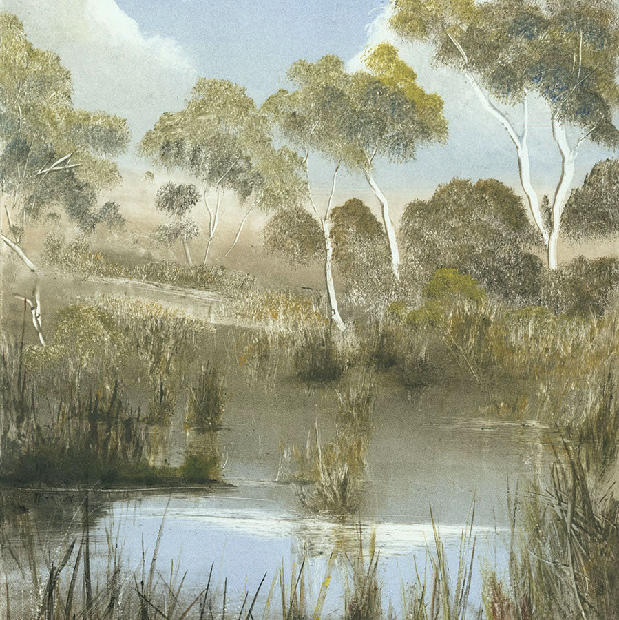Marketa Kemp - Newport Lakes - Reverve Prak in downtown Melbourne Australia - monotype baby blue - detail