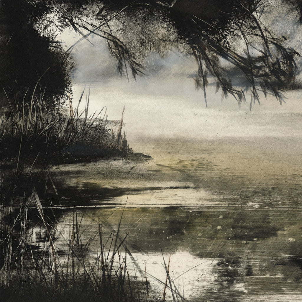 "Marketa KEMP Somewhere Up The Yarra Monotype on wove paper printed to the sheet's edge, 2019. Signed, titled, dated and annotated ""1/1"" in pencil on the verso. Image: 10 ¼ x 18 ⅞ inches. $425."