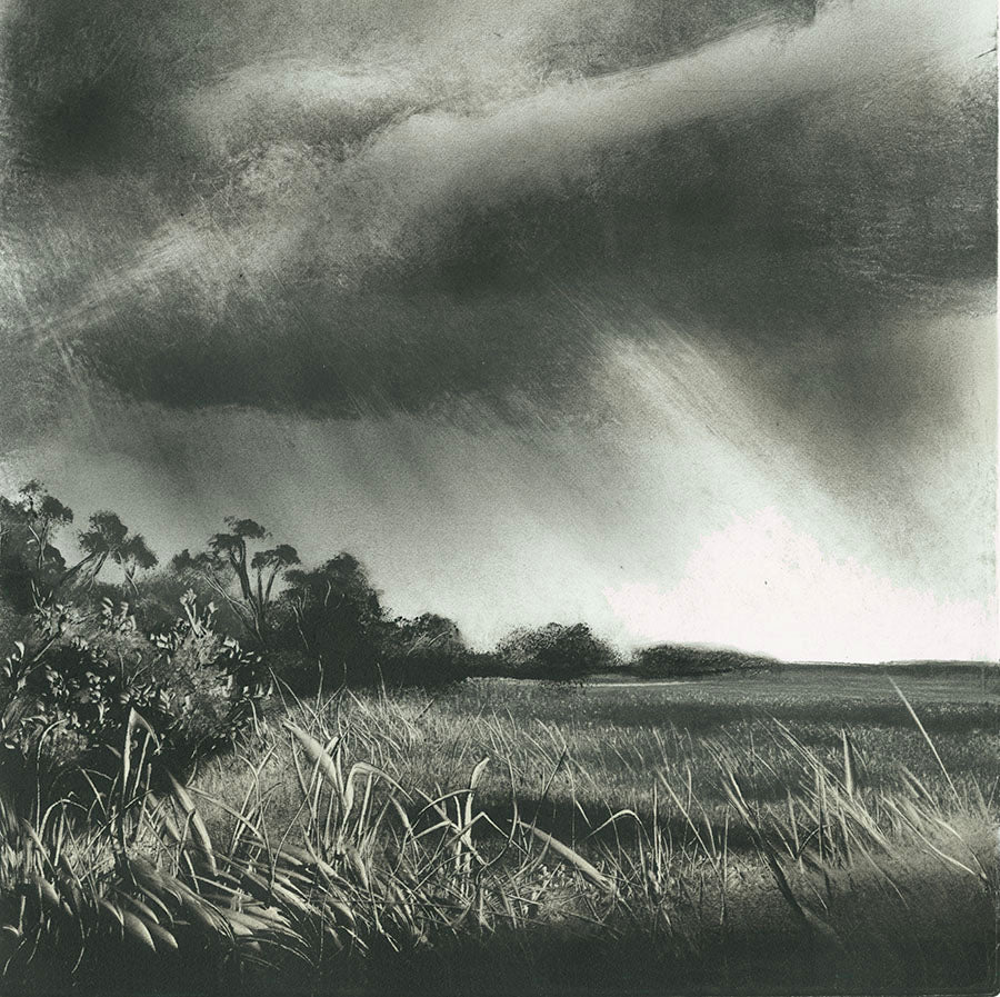 Marketa Kemp - Storm Clouds I - ominous sky - oblong vertical format - detail