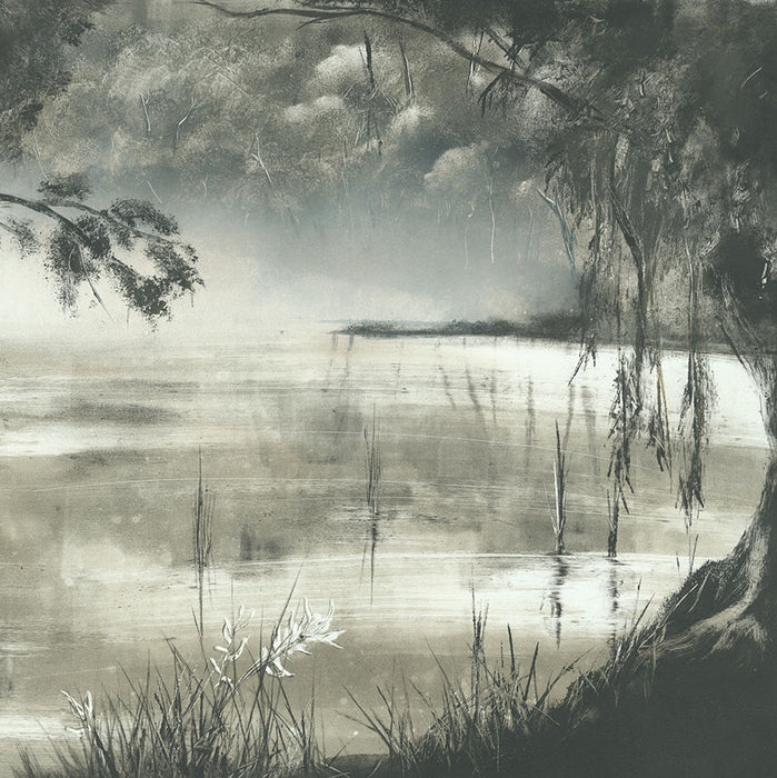 Monotype - by KEMP, Marketa - titled: Somewhere up the Yarra II