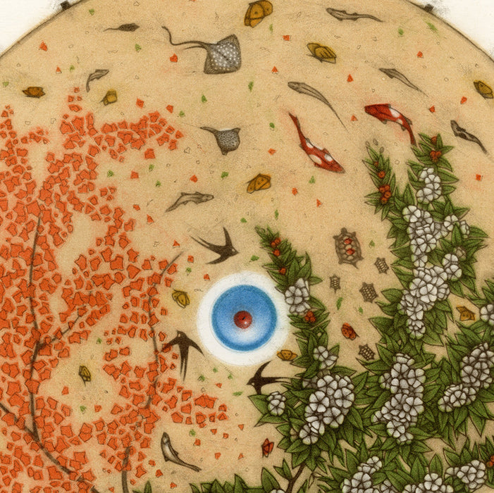Michel Estebe - Ombrelle - parasol japanese sun screen - detail