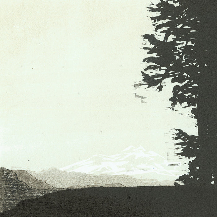 Nikki Barber - Rainier Mountain - Washington State - color woodcut