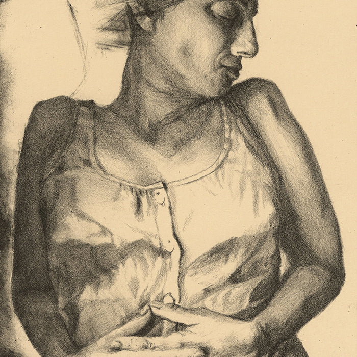 Paul DeRuvo - Rest - Awhile - lithograph - artists proof - detail